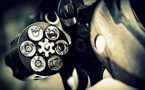 Картинка револьвер, awesome, мем, trollface