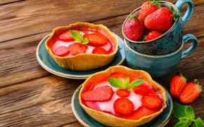 Обои ягоды, клубника, пирожное, корзинка, fresh, десерт, sweet, strawberry, dessert, berries