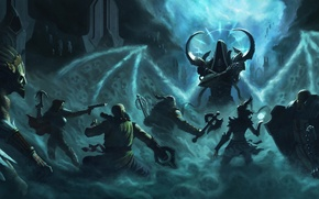 Картинка Diablo 3, demon hunter, monk, Witch Doctor, crusader, Barbarian, Wizard, Malthael, reaper of souls