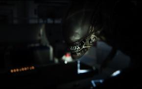 Картинка рендеринг, фон, монстр, Чужой, Alien