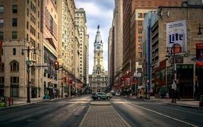 Картинка улица, центр, downtown, Heart of Philadelphia