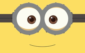 Картинка fantasy, yellow, smile, Minion, goggles, by kevinconsen
