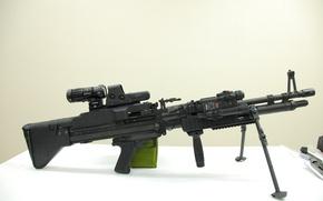 Картинка gun, weapon, saw, EOTech, machine gun, M60, heavy weapon, custon