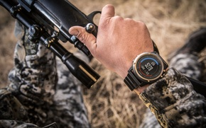 Обои rifle, Smartwatch, camouflage clothing