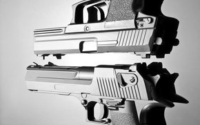 Картинка metal, gun, pistol, white, automatic, black, pistols, beautiful, and, defender, death, weapons, danger, hands, real, …