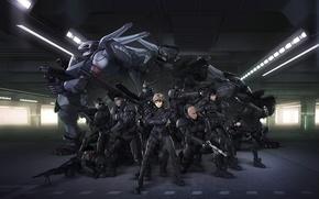 Картинка роботы, солдаты, киборги, aplle seed