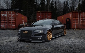Картинка Audi, One, Coupe, Forged, GT1, Piece, Forgeline, Monoblock, 5-Lug Wheels