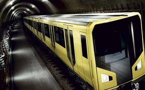 Обои Метро, туннель, поезд