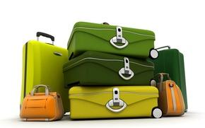 Картинка цвет, чемодан, сумка, путешествие, багаж