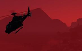 Картинка фон, вертолет, gta, Grand Theft Auto V