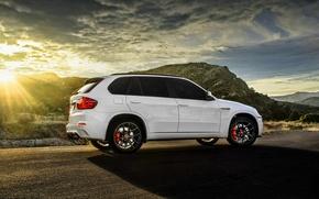 Картинка BMW, white, wheels, tuning, X5M