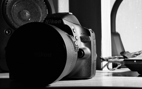 Картинка белый, черный, Nikon, D3200