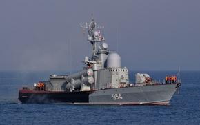 Картинка ВМФ, Черное море, ракетный корабль, Ивановец, РКА