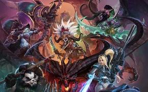 Картинка Illidan, diablo, warcraft, Demon Hunter, Witch Doctor, panda, StarCraft, Sylvanas, Illidan Stormrage, Heroes of the …
