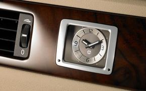 Картинка машины, часы, volvo, S80