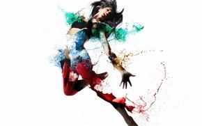 Картинка девушка, стиль, цвет, форма