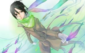 Картинка рыбка, аниме, арт, парень, The King of Nabari