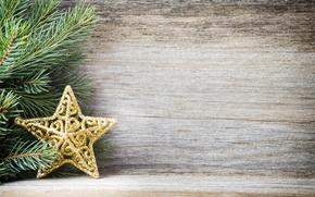 Картинка украшения, Новый Год, Рождество, star, Christmas, wood, decoration, Merry