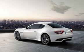 Обои белый, Maserati, GranTurismo-S