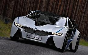 Картинка машина, Concept, бмв, BMW, концепт, Vision, передок, EfficientDynamics