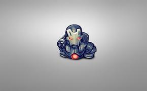 Картинка серый, сталь, минимализм, броня, железный человек, marvel, комикс, iron man