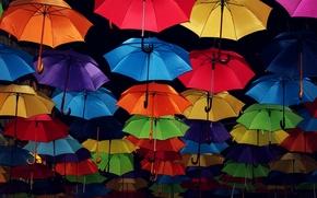 Картинка фон, улица, зонты