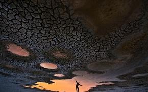 Картинка отражение, силуэт, Dream of flying