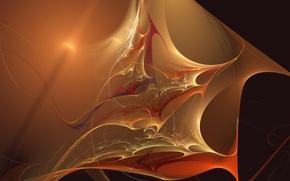 Картинка волны, свет, абстракция