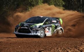 Картинка песок, гонка, dirt 2, monster, energy, ken, block, ford.fiesta