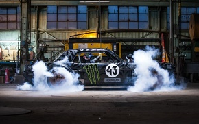 Картинка Gymkhana, Block, Side, Hoonicorn, SEVEN, 845 hp, Ken, Front, Smoke, 1965, RTR, Mustang, Ford