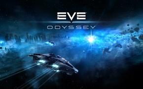 Картинка космос, space, космический корабль, EVE online, Odyssey, CCP Games, New Eden