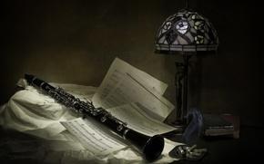 Картинка инструмент, ноты, музыка
