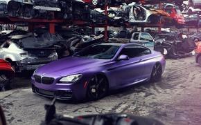 Картинка бмв, BMW, свалка, purple, пурпурная