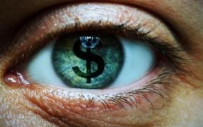 Картинка eye, eyelashes, symbol money