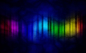 Картинка цвета, облака, лучи, ночь, абстракция, сияние, полосы, радуга, спектр, Rainbow, разноцветные, темные, гимп, gimp