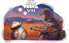 Картинка девушка, star wars, droid, kira, Star Wars: Episode VII - The Force Awakens, Звёздные войны. …