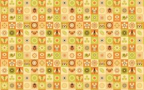 Картинка животные, цветы, насекомые, юмор, квадраты, Текстура