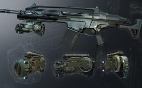 Картинка новые технологии, инопланетное оружие, Автоматическое оружие