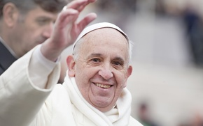 Картинка white, smile, Francisco, poses, Pope Francis, Jorge Mario Bergoglio Sívori