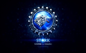 Картинка wolf, Game of Thrones, Song of Ice and Fire, winter is coming, Stark, heraldry, coat …
