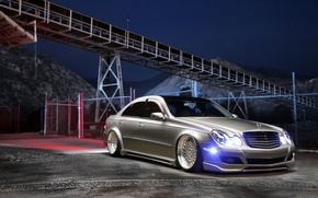 Обои mercedes benz, e350, stance, tuning, car