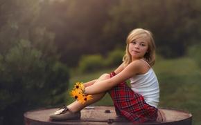Картинка девочка, цветы, Lorna Oxenham, summer eve, прелесть, лето