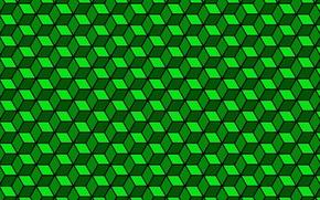 Обои цвет, грань, объем, куб, абстракция, ромб