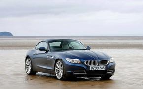Обои отлив, берег, BMW