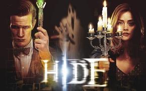 Картинка взгляд, девушка, свечи, мистика, руки, актриса, лица, призрак, актер, фотографии, мужчина, рубашка, ghost, снимки, Doctor ...