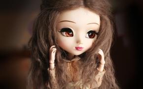 Картинка глаза, лицо, кукла, большие