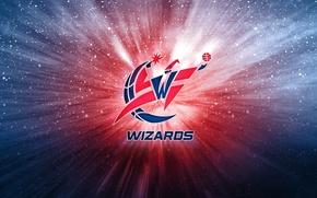 Картинка Баскетбол, Фон, Вашингтон, Логотип, NBA, Мастера, Washington Wizards, Волшебники