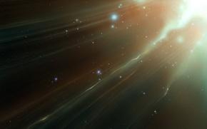 Обои звезды, свет, поток, 154