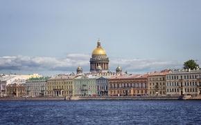 Картинка река, здания, дома, Russia, набережная, питер, санкт-петербург, St. Petersburg