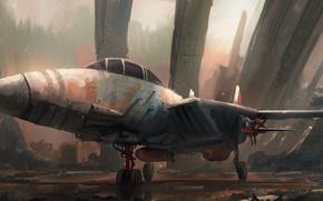 Картинка самолёт, Leon Tukker, Junkyard jet